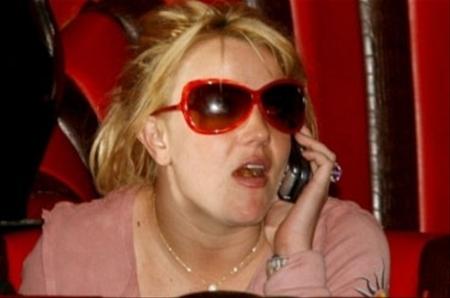 Britney Spears al celular